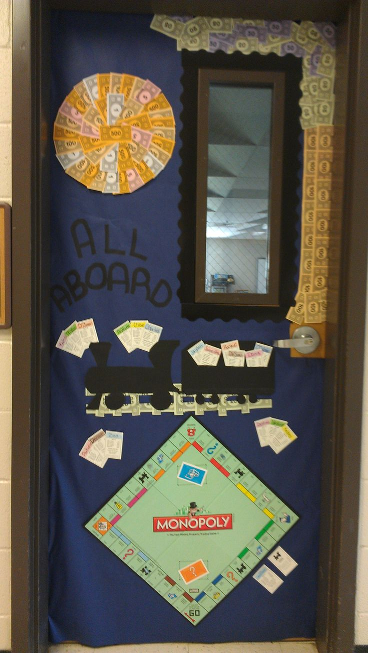 Classroom Decor Games ~ Monopoly for the classroom door game board theme pinterest