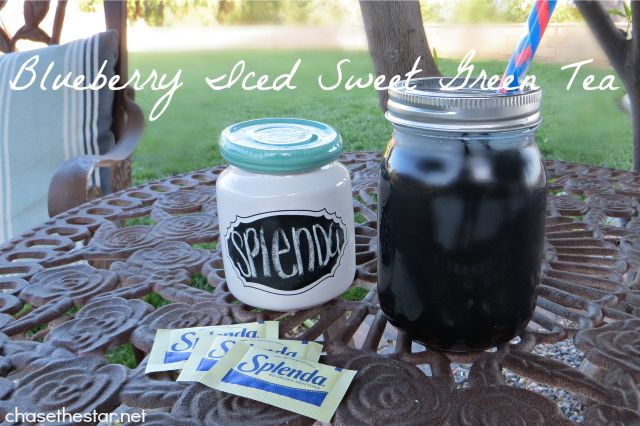 Blueberry Iced Sweet Green Tea Perfect for warm spring days! # ...