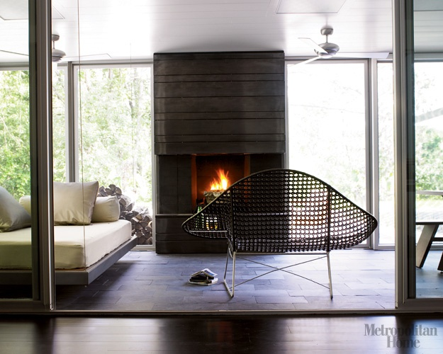 Screen Porch Fireplace OUTDOOR SPACES Pinterest