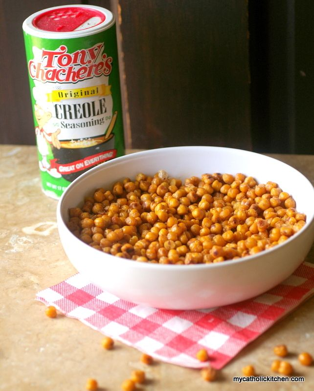 Spicy Oven Roasted Chickpeas - sounds interesting.....