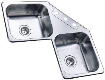 Corner Stainless Steel Sink : Sauber 2.0 Bowl Corner Stainless Steel Kitchen Sink - Sauber available ...