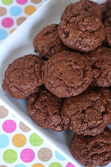 chewy triple chocolate cookies | Cookies | Pinterest