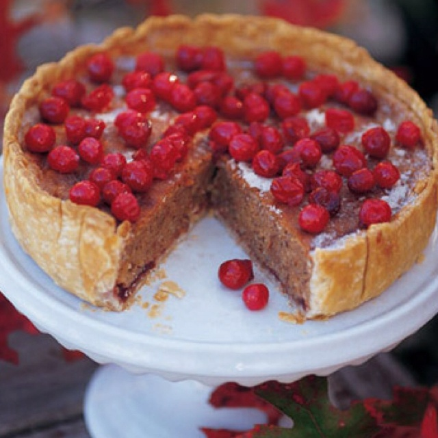 Cranberry, Almond, and Cinnamon Tart | Recipe
