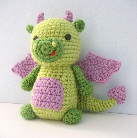 Amigurumi Patterns Download : Amigurumi Dragon Crochet Pattern Digital Download