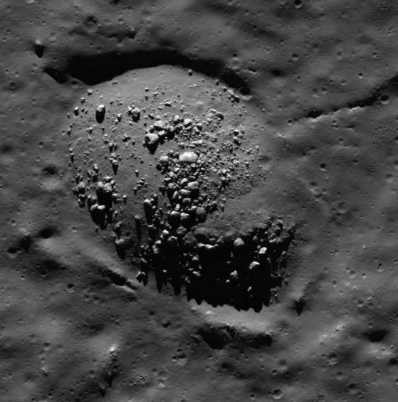 Crater on the m...