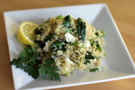 Spinach and Feta Quinoa Salad | Recipe