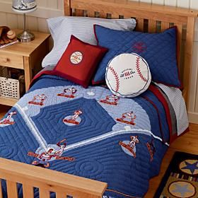 land of nod baseball bedding boys 39 baseball room pinterest. Black Bedroom Furniture Sets. Home Design Ideas
