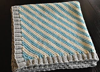 flannel + piping baby blanket - see kate sew