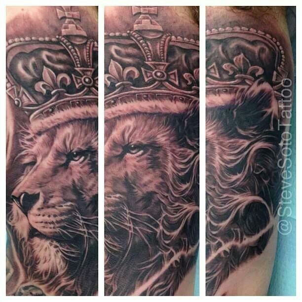 Lion king of the jungle tattoo - photo#25