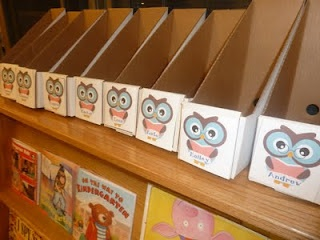 Daily 5 Book Boxes- Students can decorate the sides