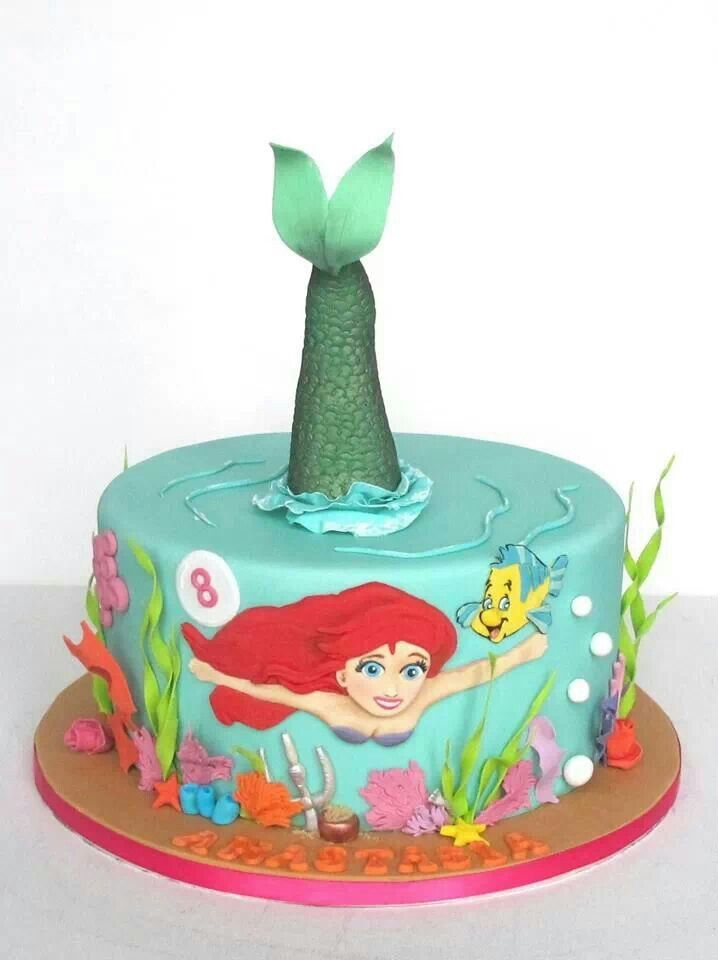 Little mermaid cake all things cakes cake decorating for Ariel cake decoration