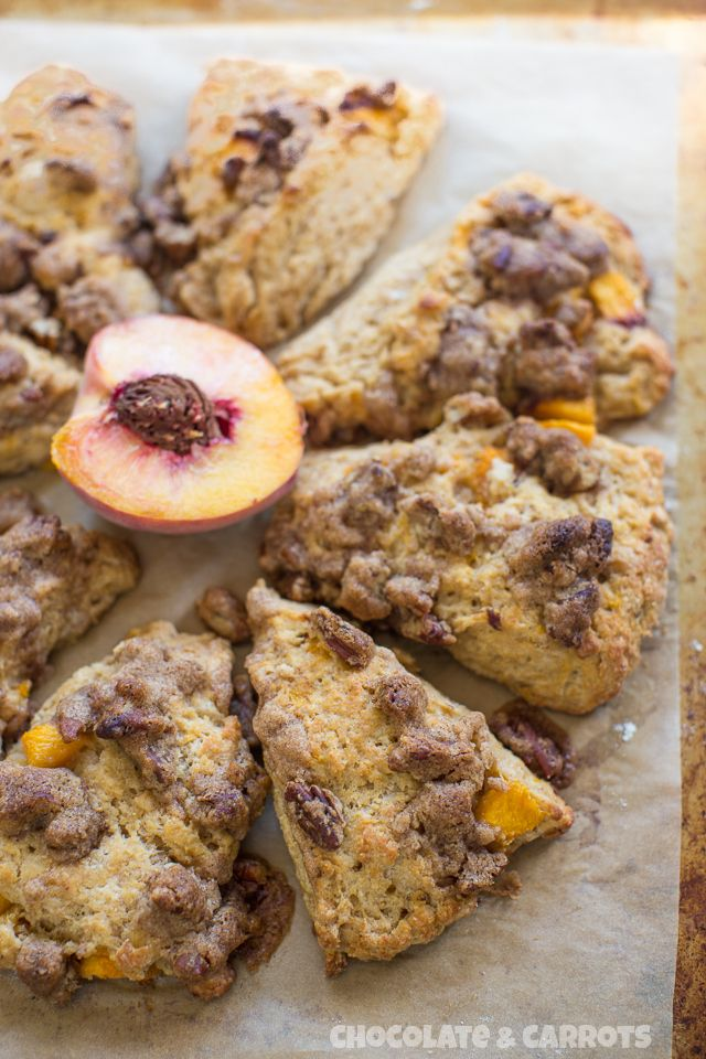 Peach Cobbler Scones | Morning Munchies | Pinterest