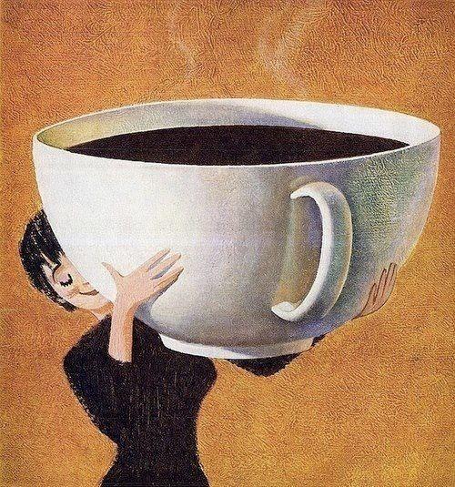 Amo esas tazas grandes de caf for Tazas grandes