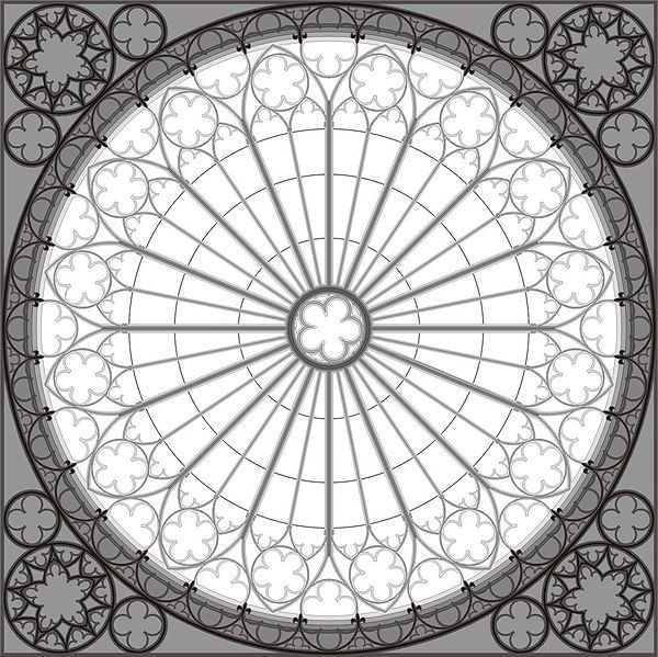 Use rose window as template for color wheel?