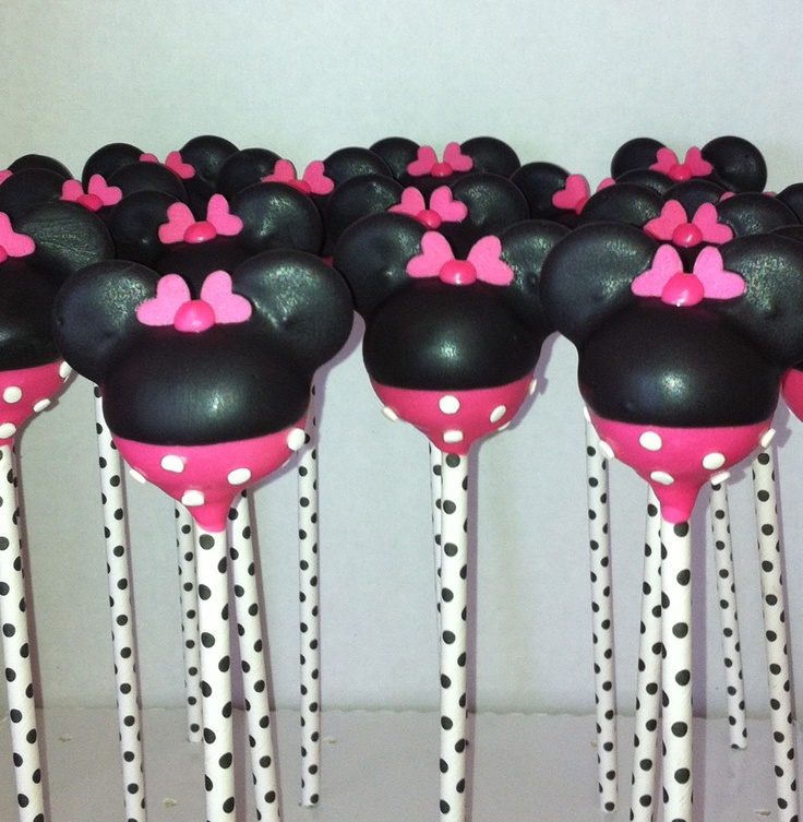 Minnie Mouse Cake PopsMickey And Minnie Cake Pops Instructions