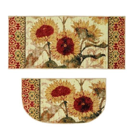 Sunflower Floral Flower Kitchen Small Area Accent Throw