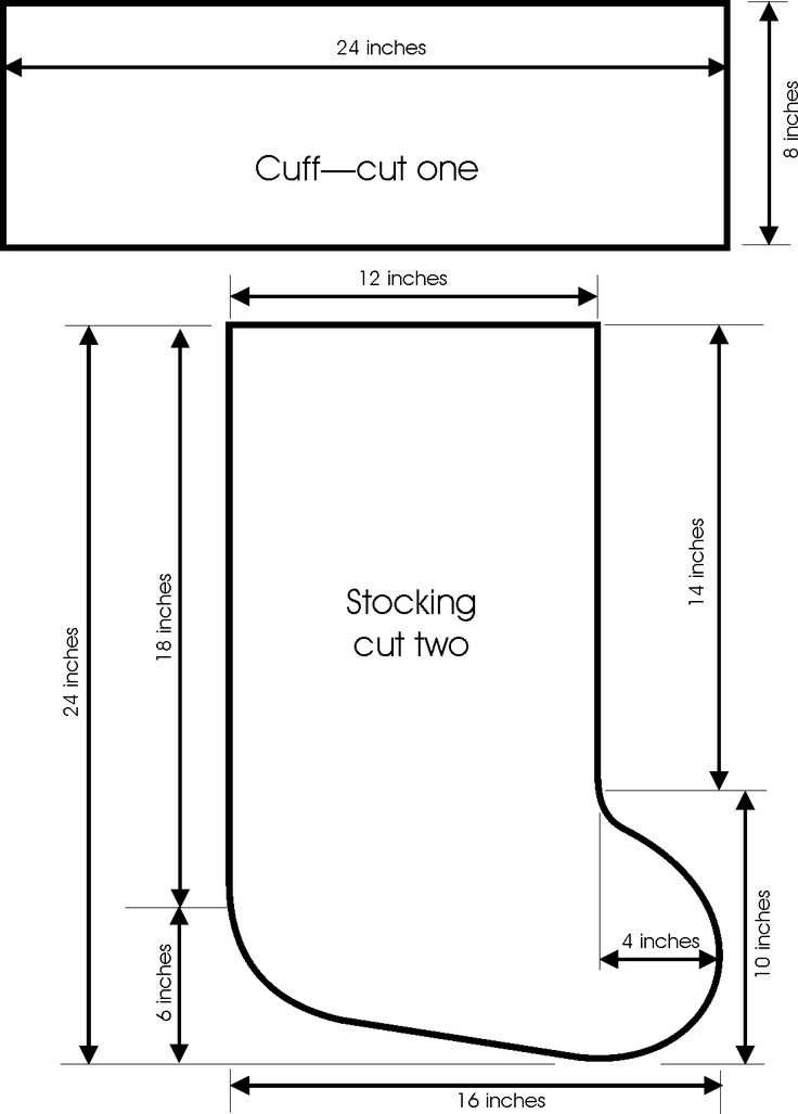 FREE stocking pattern/template | Christmas Inspiration | Pinterest