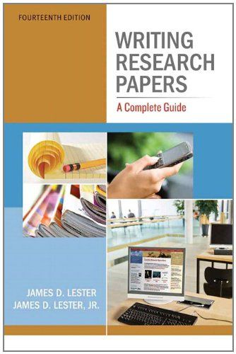 Writing research papers james lester 12th edition