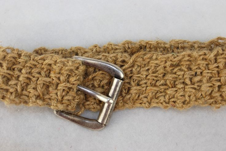 Crochet Twine : Jute Twine Crocheted Belt Pattern