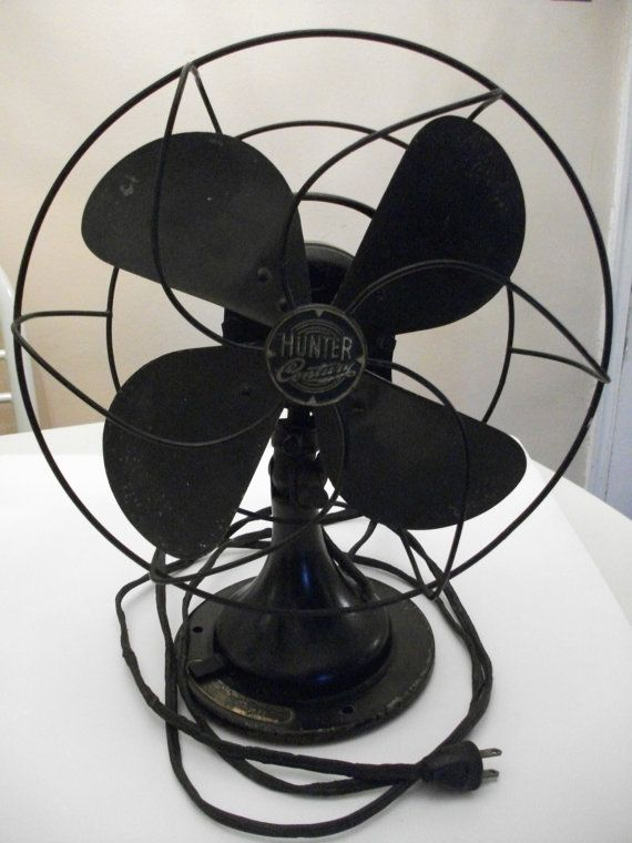 Hunter Century Table Top Fans : Hunter century quot oscillating desk fan s made in