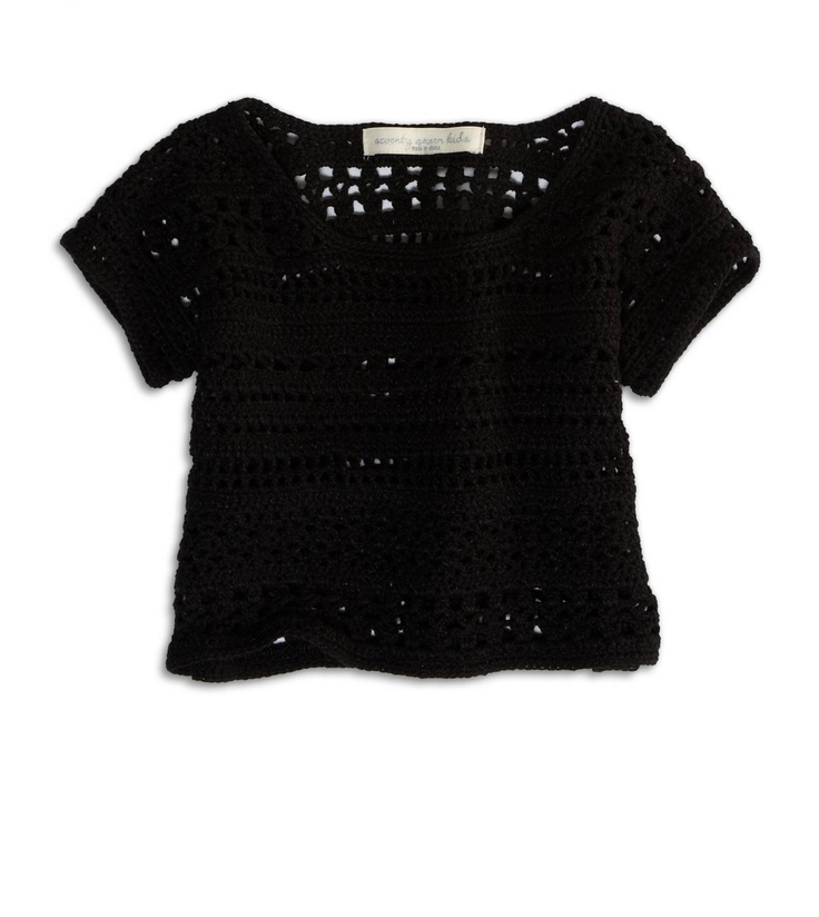black, cropped sweater