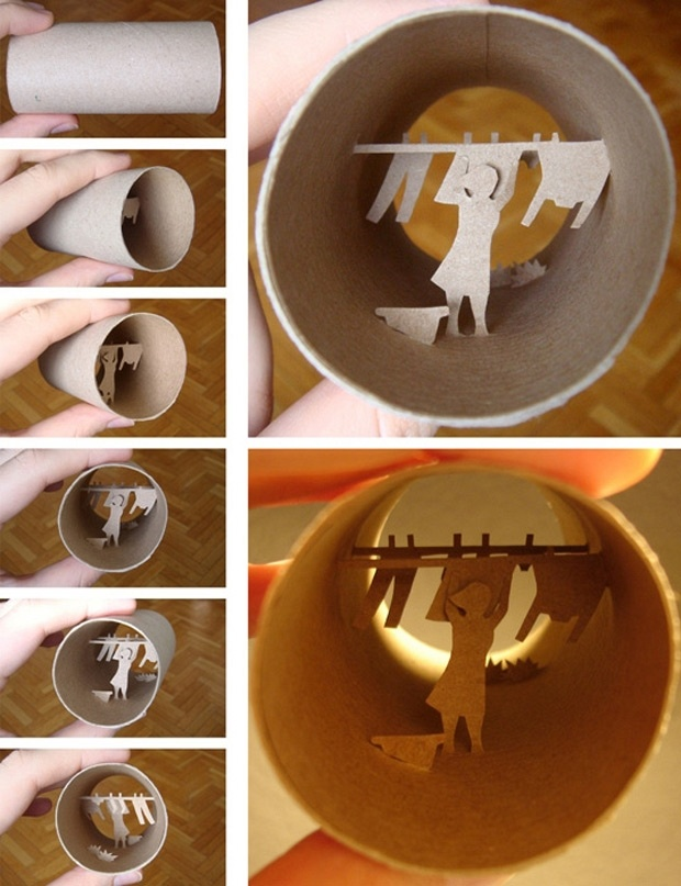 Toilet paper tube art art pinterest for Toilet paper tube art