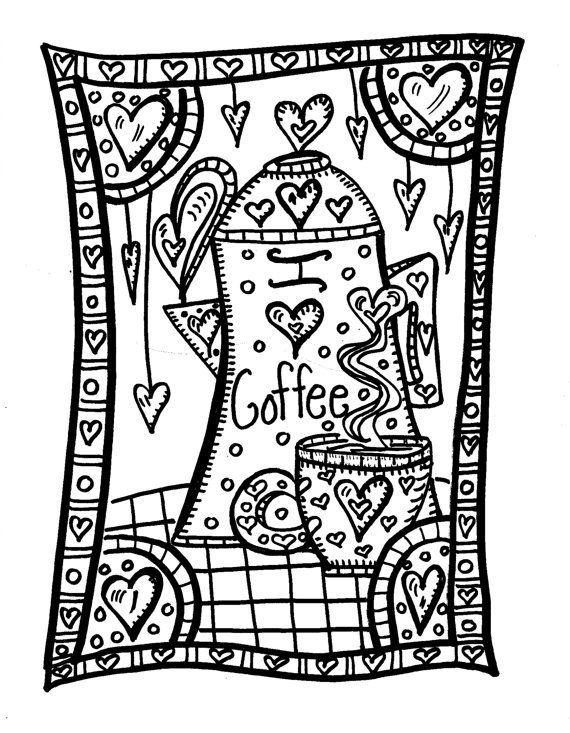 Coffee Cup Coloring Page in addition Coffee Lovers Coloring Pages also ...