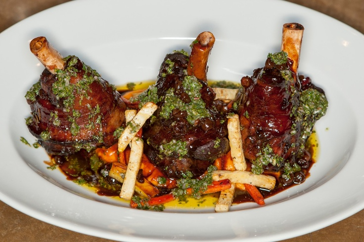braised #Colorado lamb shank, cranberry, chipotle, sweet potato puree ...
