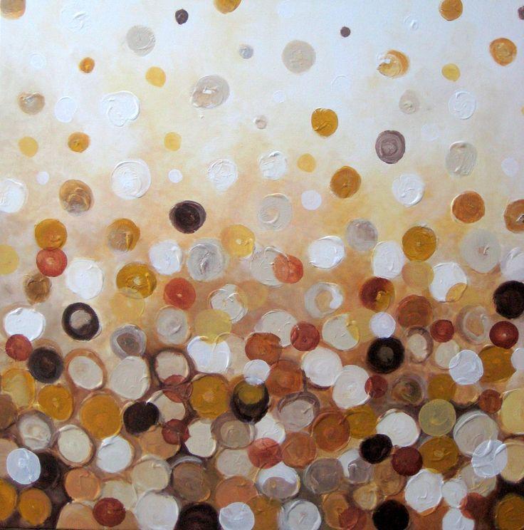 "'Caramel joy' by Devika Keskar | $250 | 24""w x 24""h | Original Art | http://www.arttwo50.com/buy/art/caramel-joy"