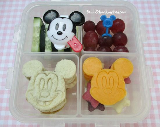 Mickey Mouse bento lunch. @Disney www.facebook.com/BentoSchoolLunches