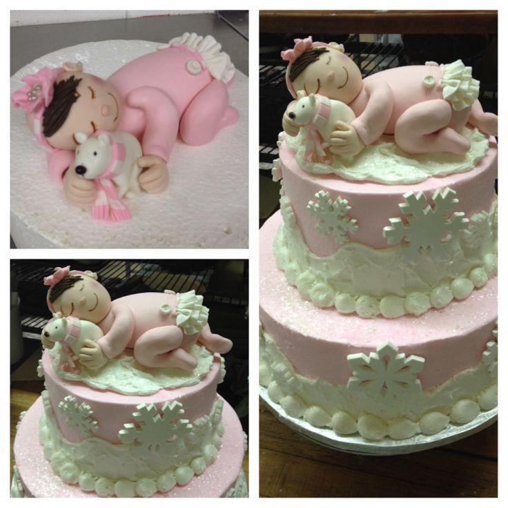 winter wonderland baby shower cake pretty sweet pinterest