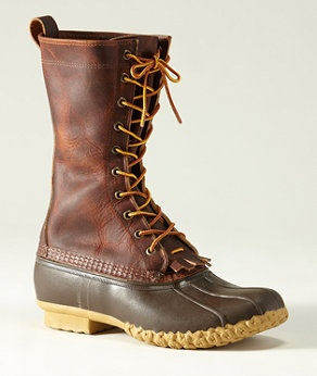 LL Bean Signature Leather Maine Hunting Boot