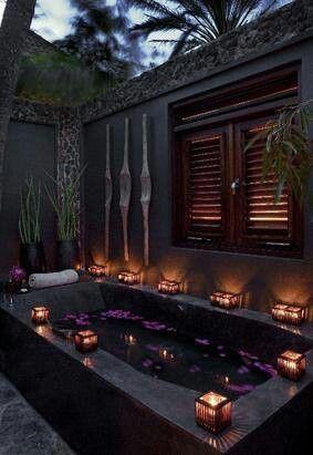 Romantic Outdoor Bath Bathroom Outdoor Pinterest