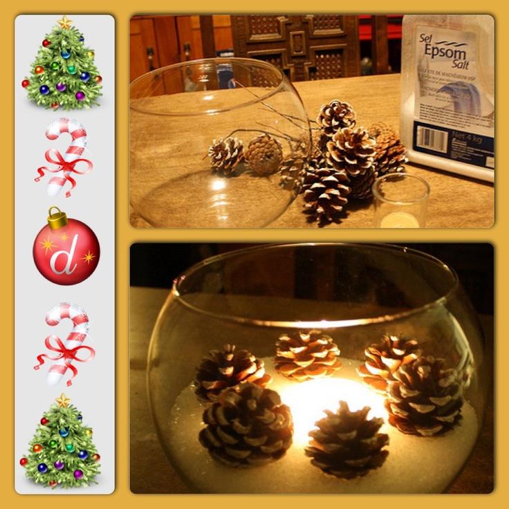 Simple Christmas Table Centerpiece Christmas Decor