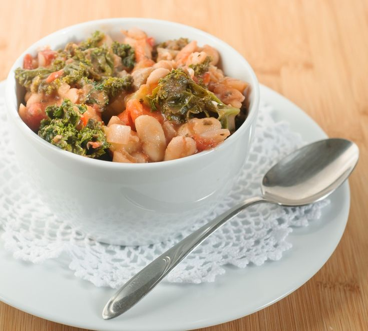 Kale and White Bean Stew - very tasty although I added extra basil and ...