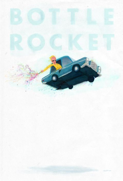 bottle rocket illustra...
