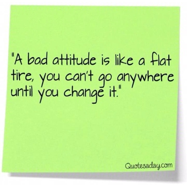 positive quotes about bad attitude quotesgram