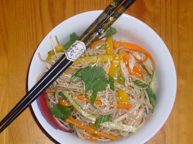 Cold Asian Noodle Salad | For the Stomach | Pinterest