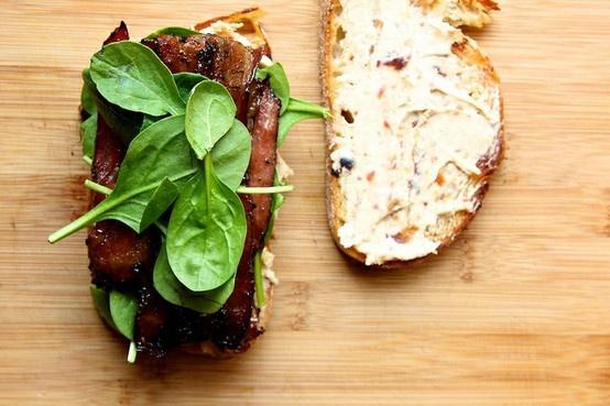 Coffee Bacon Sandwiches!! | Delish | Pinterest