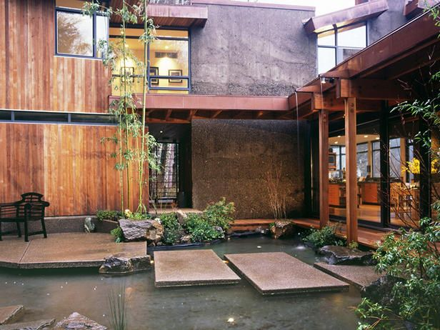 Another view of the Japanese-inspired courtyard