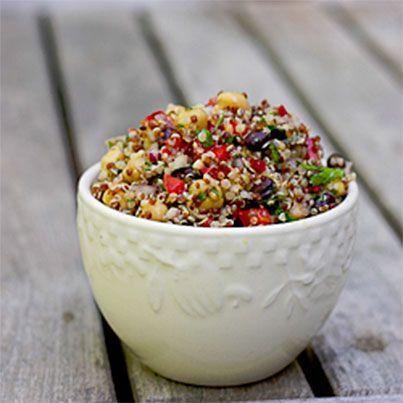 ... Salad with Chickpeas, Black Beans, Quinoa and a Lemon-Cumin