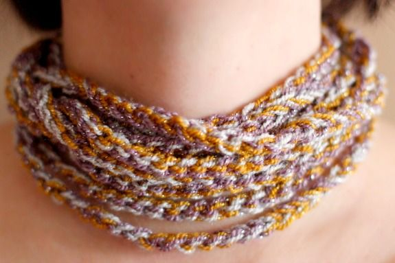 Crochet Chain Stitch : Wearing a Crochet Chain Stitch Necklace @Yaffa Rasowsky and Takes.com ...