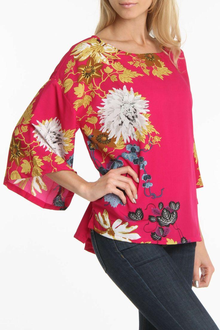 Lush Floral Kimono Blouse 53