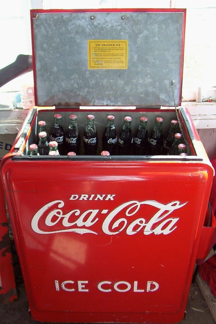 I remember as a kid, we use to go to the little corner store and get a ice cold Coke, it was filled with ice water and bottles of Coke!! Love the Memories..