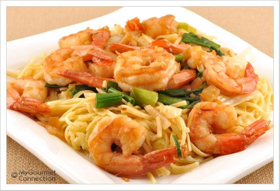 Sichuan Pepper Shrimp with Noodles Recipe | MyGourmetConnection
