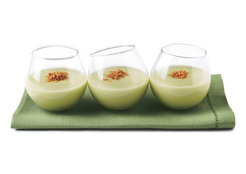 Chilled Avocado Soup Shots with Spicy Breadcrumbs | Recipe