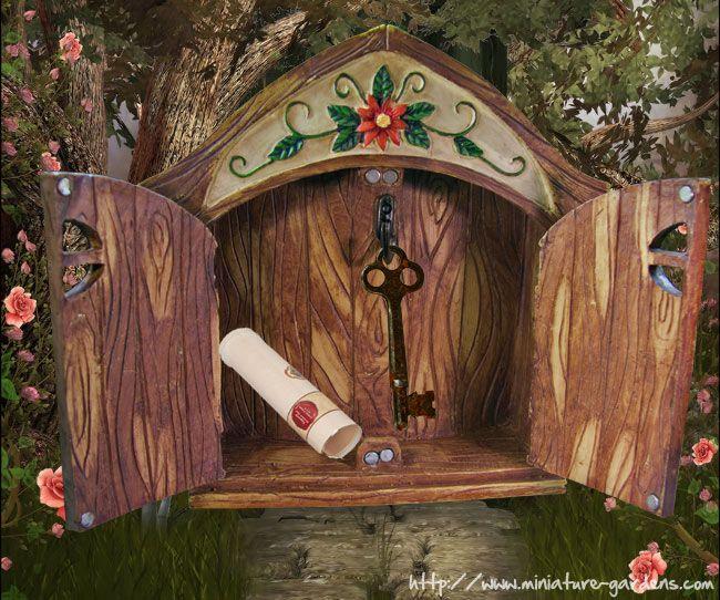 Double Treasure Fairy Door Open Fairy Gardens Pinterest