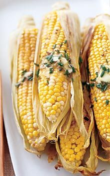 Corn on the cob with lime chive butter | Yum! | Pinterest