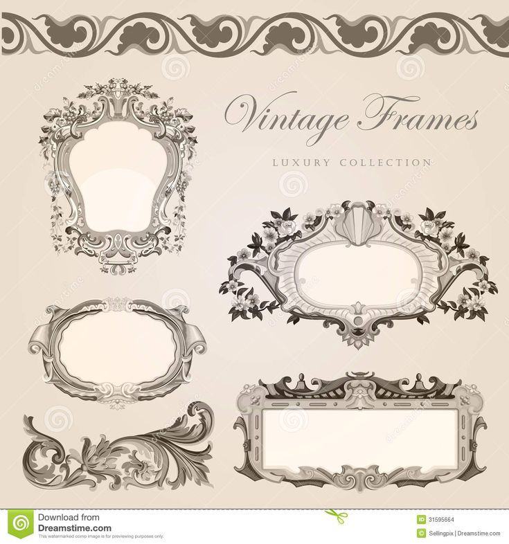 Vintage Invitations Template : Fonts and Papers : Pinterest