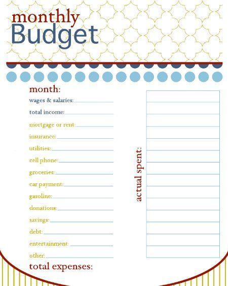 Tons of great printables for organizing life!